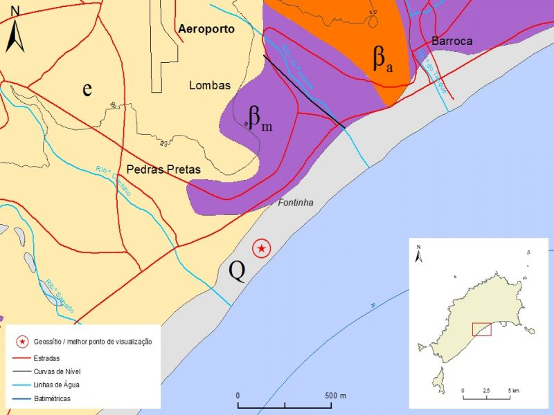 Simplified geological map of Porto Santo Island detail - PSt01